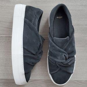 MAJE Grey Twisted Knot Platform Slip-on Size 10